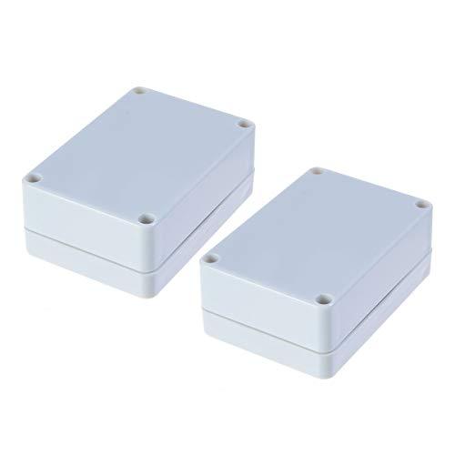 YXQ 83x58x35mm Grey Plastic Electronics Project Junction Box Enclosure Instrument Case For DIY (2Pcs)