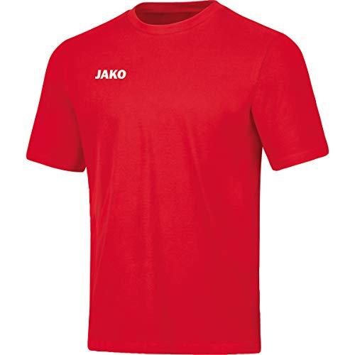 JAKO Base Camiseta para Hombre, Talla L, Rojo