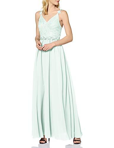 Laona Damen Evening Dress LA42009L Partykleid, Türkis (Jade Mint 7075), 36 (Herstellergröße: S)