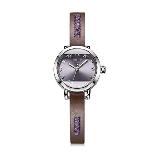 Lishaodonglishaodon Julius - Reloj de pulsera de piel impermeable con correa de piel, acero inoxidable, D, 23mm