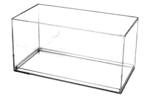 Pioneer Plastics hochwertige Modellautovitrine aus Acryl, Maßstab 1:32, mit 3M Klebepad, mit rechtwinkligen Kanten