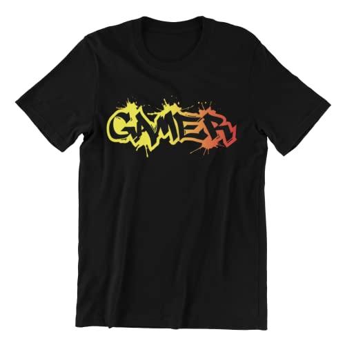Jurcom Printing Ltd Gamer Graffiti - Camiseta de algodón para hombre, Negro, XL