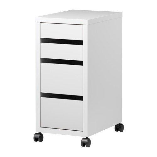 IKEA MICKE Schubladenelement auf Rollen; in weiß; (35x75cm)