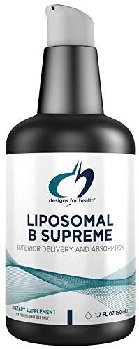 Designs for Health Liposomal B Supreme - Liquid B Vitamin Complex with Superior Absorption - Folate, Vitamin B12, B6, Biotin, TMG + More - Oral Delivery Pump with Citrus Flavor (50 Servings / 1.7oz)