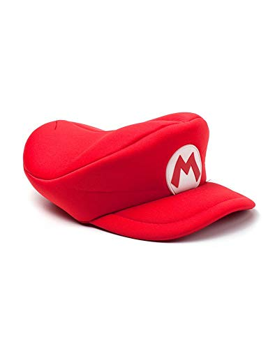 Super Mario Cap - Mütze | kompatibel mit Nintendo | Herren Damen Unisex | Rot | 85 % Polyester 15% Baumwolle