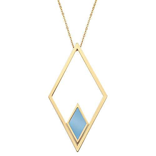 Christian Lacroix X46300D - Collar para Mujer (latón, Chapado en Oro y Azul)