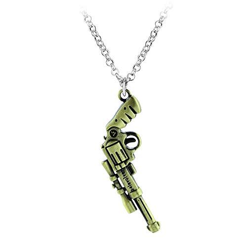 QAQV Collares Y Colgantes Para Hombre Collares De Niño Joyas De Soldadocosplay Gifts-Revolver_Bronze_4
