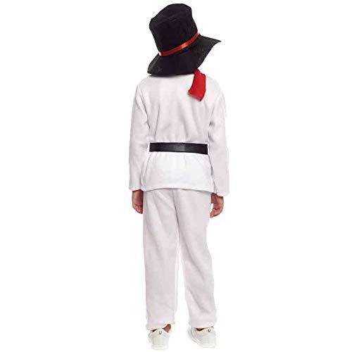 Disfraz Muñeco de nieve Infantil para Navidad 10-12 años: Amazon ...