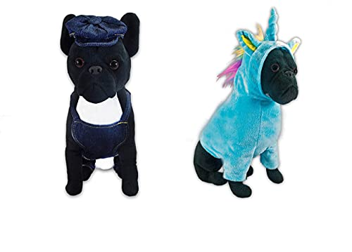 FGA MARKETPLACE French Bulldog Stuffed Animal, Realistic Looking Supersoft Plush Toy , Amazing Collection, A Huggable Keepsake for All Ages (Bundle 4)