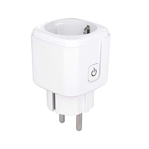 Enchufe Inteligente WiFi BLUYA 16A 3300W, Mini Smart Plug, Funciona con Amazon, Alexa, Google Home, No Requiere Hub, Función de Temporizador mediante App desde Cualquier lugar. (1)