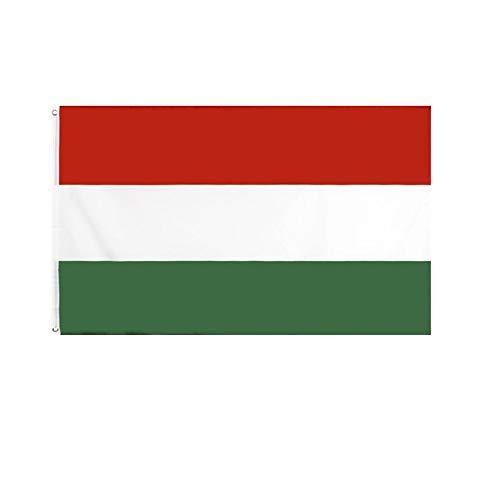 stormflag Ungarn Flagges (90cmx150cm) Polyester Pongee 90g mit Ösen mit Doppelnadel genäht.