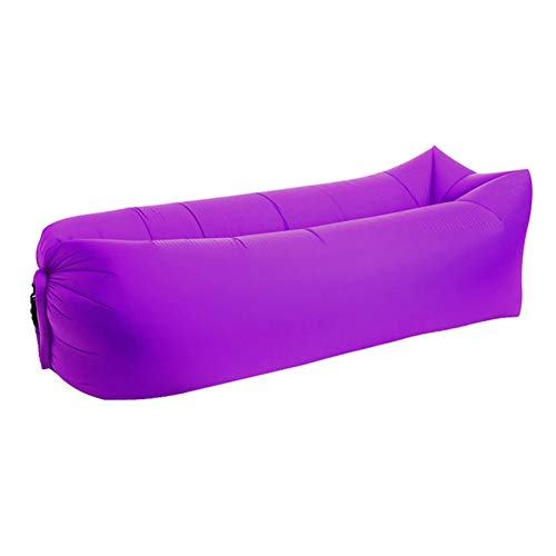 Inflatable Lounger Chair Inflatable Lounger Letti Gonfiabili, Outdoor Rapid Gonfiabile Sofa Portable Camping Air Sofa Beach Letto Pigro Divano Banana Bean Bag Lazy Sacco Dolorante,Purple