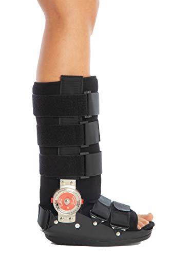 Tutore walker per il piede destro e quello sinistro, regolabile; garantisce ampia libertà di movimento; utilizzato anche dal sistema sanitario