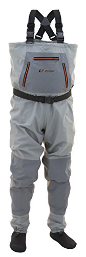 FROGG TOGGS Hellbender Breathable Stockingfoot Chest Wader, Slate Gray, Size Medium (271112)