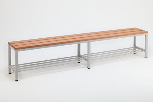 Sitzbank für Umkleideräume mit Schuhrost 200x30 cm, Marke: Szagato (Umkleidesitzbank, Umkleidebank, Garderobenbank, Bank mit Echtholz für Fitnessstudio)