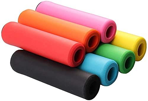 JKKJ 1 paio di manopole per bicicletta in spugna di silicone per BMX/MTB/Road Mountain/ragazzi e ragazze, 7 colori, nero, giallo, arancione, blu, verde, rosso, rosa (arancione)