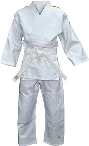 adidas Tuta Judo Evolution bambini (incl. Cintura), Bianco (Brilliant white), 120 - 130 cm