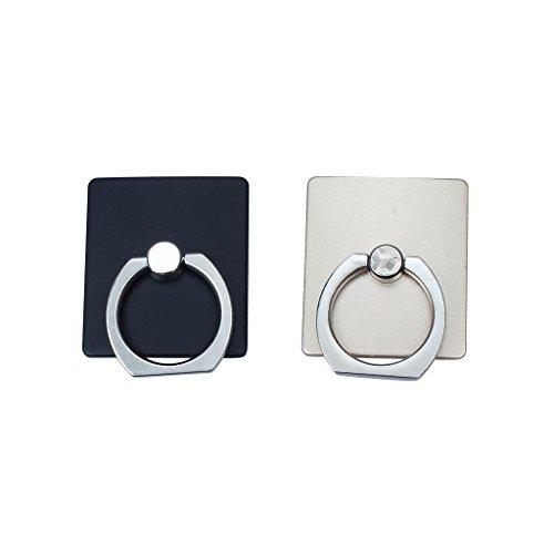 ocona 2er-Set Handyhalter mit Metallring, 360 Grad drehbar, Universal Ring Grip
