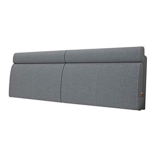 PENGFEI Bett Kopfteil Gepolstert Kissen Rückenkissen Bettseite Weiche Abdeckung Bettwäsche Lesen Sie Gepolstert Waschbar, 8 Farben (Color : E, Size : 200CM)