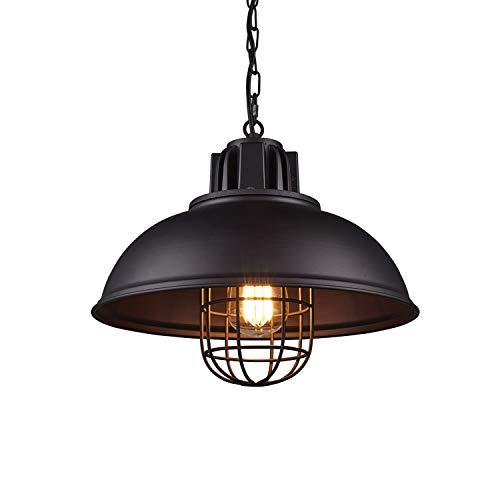 YJHome Lámpara colgante, lámpara colgante vintage retro industrial Lámpara colgante ajustable en altura LED, Ø 32.5cm E27...