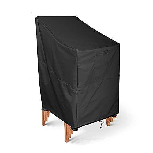 Anyer Terrasse Stapelstuhlabdeckung, Freizeit Im Freien Garten Wasserdicht Und UV-Schutz, Dauerhaftes 210D-Material, High-End-Recliner-Abdeckung,Chair cover66*73 * 86/120cm