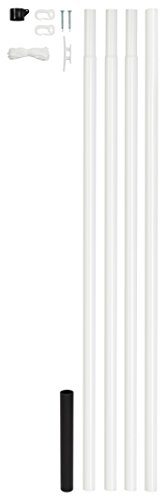 GAH-Alberts 639709 Fahnenmast | zylindrische Form | zum Einbetonieren | zinkphosphatiert, weiß kunststoffbeschichtet | Rohr-Ø 42 mm | Gesamthöhe 615 cm