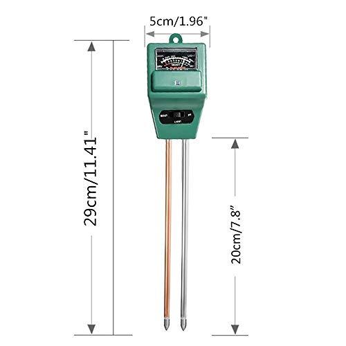Boden Feuchtigkeit Meter, 3-in-1 Feuchtigkeit Prüfer PH Wert Messgerät Lichtstärke Meter für den Gartenbau, Pflanzen Wachstum, Rasenpflege