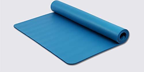 NBR tappetino da yoga verde e insapore doppio professionale stuoia allargato principiante uomini e donne tappetino yoga, Blu