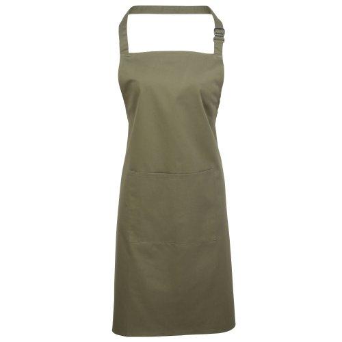 Premier Damen Schürze mit Tasche bunt (Einheitsgröße) (Olive)