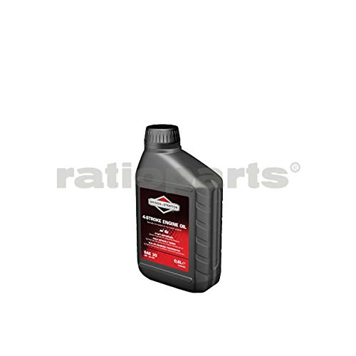 Briggs & Stratton 100004E 4-Takt Rasenmäher Motoröl SAE30 500ml, Schwarz, 0.5 Litre