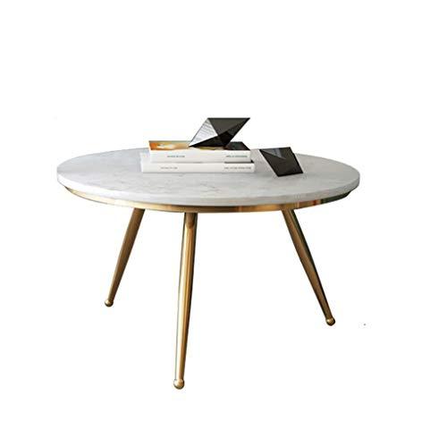 table basse Nordic Simple Household Salon rond en marbre Côté canapé (taille : 60cm*40cm)