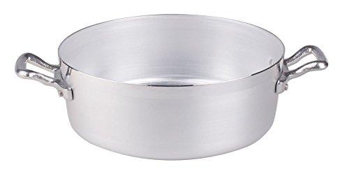 Pentole Agnelli Family Cooking Alluminio Casseruola Bassa con 2 Maniglie, 22 cm