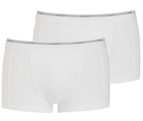 Jockey® Herren, Modern Classic Short Trunk 2er-Pack, 18502922, weiß, Größe S