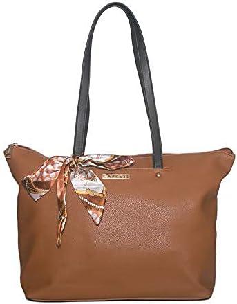Popular product Caprese Pam Tote Black Cash special price Large Tan