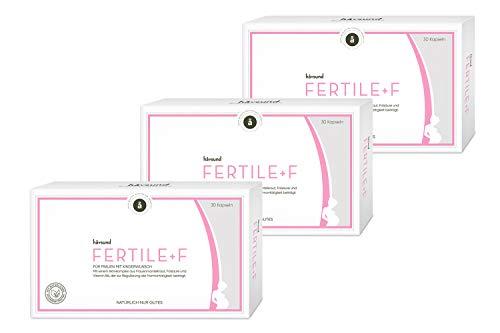 håvsund Fertile+f - 3 Monate - Nahrungsergänzung bei Kinderwunsch mit Folsäure, Jod, Vitamin B6, Eisen - 3x30 Kapseln