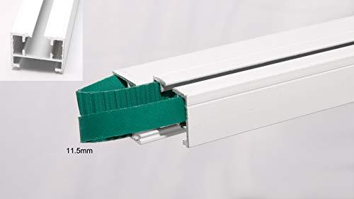 HC - Cinturón de 4 metros de largo para cortina eléctrica inteligente, cadena de cortina motorizada para control remoto, metal, Blanco, 11,5 mm
