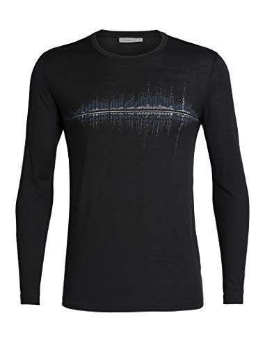 Icebreaker Tech Lite Snow Wave T-Shirt Manches Longues à Col Ras-du-Cou Homme, Black Modèle XL 2019 t Shirt Manches Longues