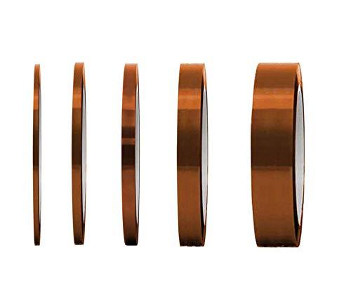 5 Rollos Aislamiento de cinta,Cinta Térmica Adhesiva Kapton Resistente a la Temperatura...