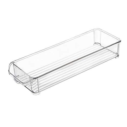 TeFuAnAn 冷蔵庫用収納ボックス 冷蔵庫トレー パントリー・冷蔵庫収納トレー 重ねて収納できる 透明 プラスチック製 収納ボックス 四角 野菜/果物収納ボックス 調味料入れ パントリー キャビネット 台所用品 持ち運び便利 冷凍庫整理