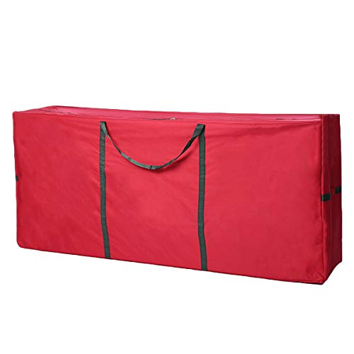 Xmas Tree Storage Bag with Handles Zippered for Up to 9ft Tall Disassembled Trees Organize