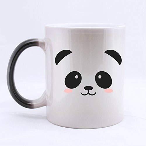 EWUEJNK Custodia per Telefono in Ceramica,La Tazza Magica Cambia Colore Whenheated con Impugnatura,Panda Elegante Tazza Cappuccino Tazze Cappuccino 350Ml,per Home Ristorante E Ufficio