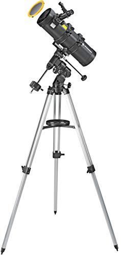Bresser Teleskop Spica 130/1000 EQ3, katadioptrisches Spiegelteleskop mit Smartphone Kamera Adapter und hochwertigem Objektiv Sonnenfilter, inklusive Montierung, Stativ und Zubehör