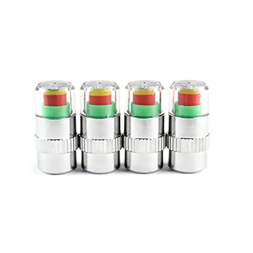 Pumprout 4 unids/Set, Tapones de vástago de válvula de Monitor de presión de neumáticos de Coche, tapón de válvula de neumático de Alerta de Aire, Sensor de presión, Monitor, indicador de Tapa de luz