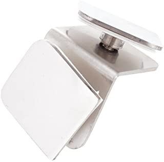90 Degree Stainless Steel Square Glass Clamps Adjustable Glass Bracket Flat Back for Balustrade Staircase Handrail