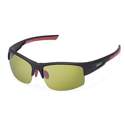 High Definition Golf Ball Finder Sport Glasses for Men Women Golf Sport Sunglasses Golf Sport Eyewear(Black Frame Green Golf Lens)