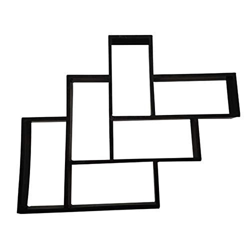 EVFIT Molde de Piedra de pavimentación L Rectangular de mampostería de moldes de Cemento del pavimento del Molde de la baldosa del pavimento (Color : Black, Size : 53x42cm)