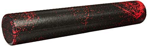 AmazonBasics – Schaumstoff-Fitnessrolle, hochdicht, rund, 90 cm, rot-gesprenkelt
