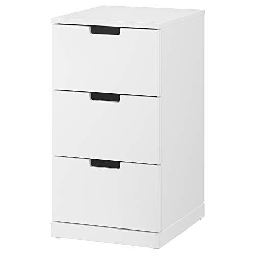 IKEA.. 992.398.37 Nordli - Cassettiera con 3 cassetti, Colore: Bianco
