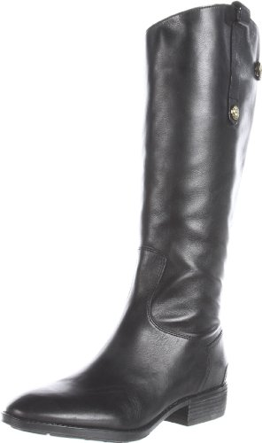 Sam Edelman Women's Penny Riding Boot, Black Leather, 7 M US