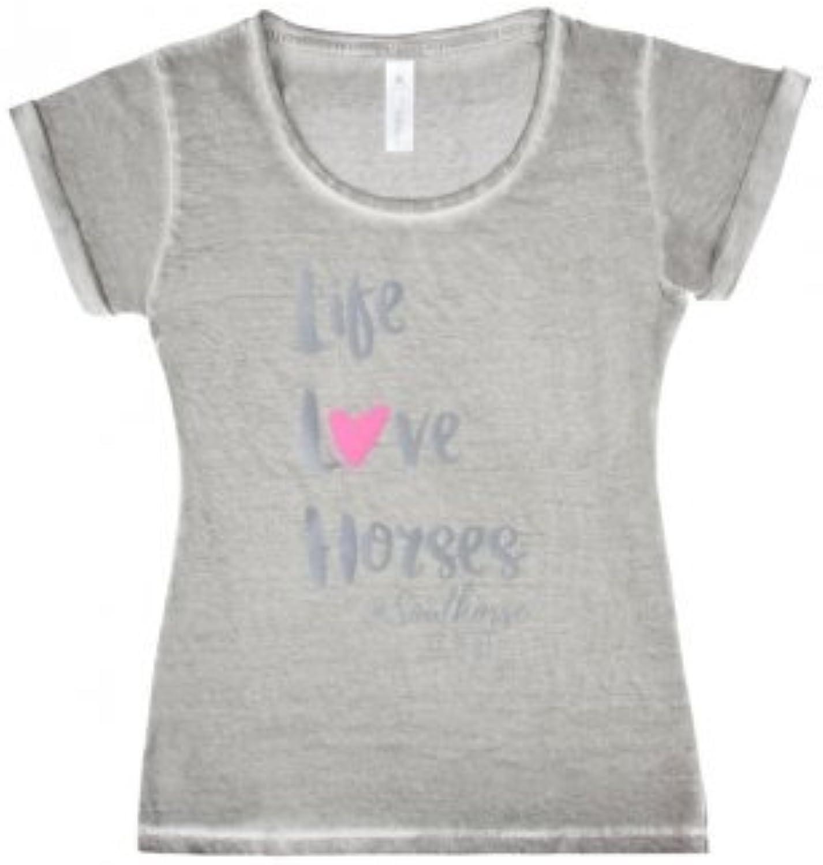 PFIFF T-Shirt ´Life Love Horses´, grau, XS B06XTFKTM1 B06XTFKTM1 B06XTFKTM1  Hervorragende Eigenschaften 395f78